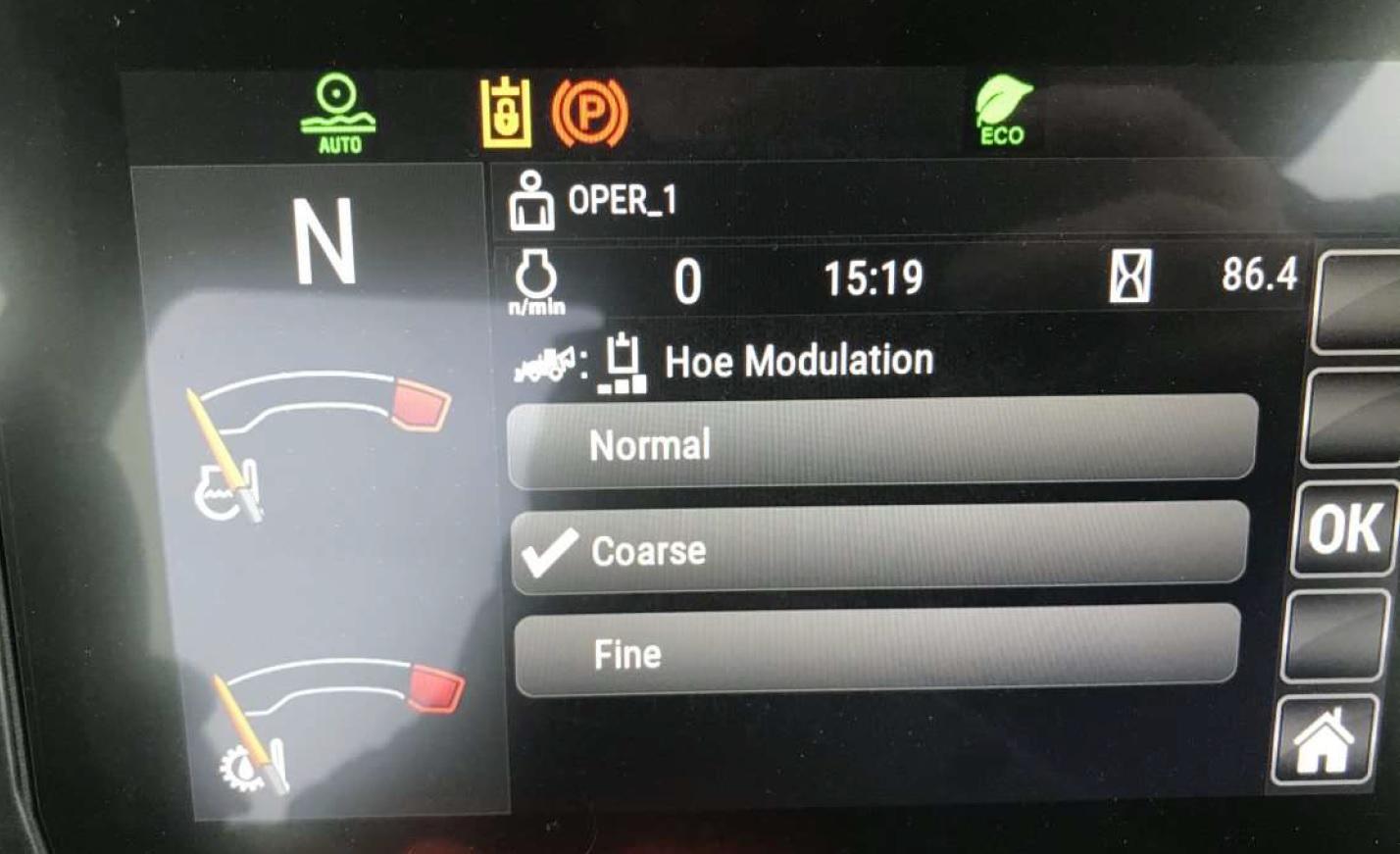 modos de control para el operador